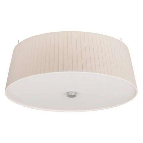 Sotto luce Lampa sufitowa kami elementary m 1/c/ecru plisowana oprawa okrągły plafon abażurowy ecru