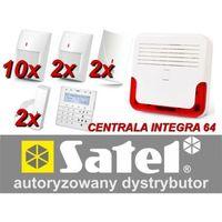 Zestaw alarmowy SATEL Integra 64, Klawiatura sensoryczna, 10 czujników ruchu PET, 2 czujniki zalania, 2 czujniki ruchu dualne PE