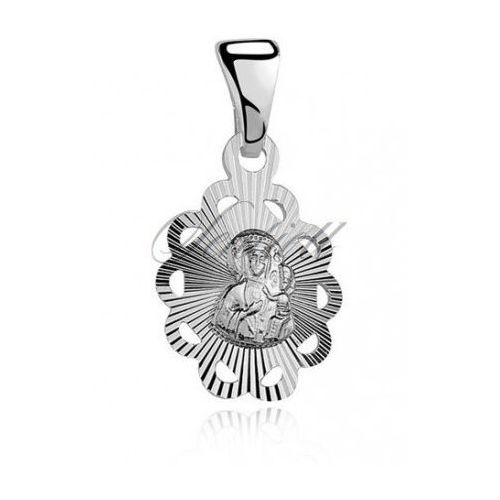 Srebrny medalik Matka Boska Częstochowska - MD059 - produkt z kategorii- Dewocjonalia