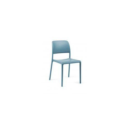 Krzesło Riva niebieskie, kolor niebieski