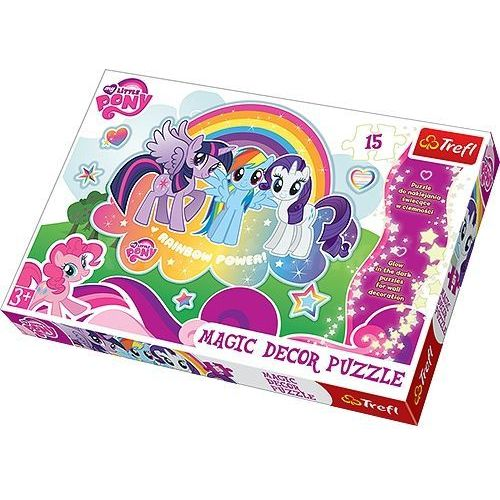 Trefl Puzzle 15 Magic Decor - Kucyki Pony