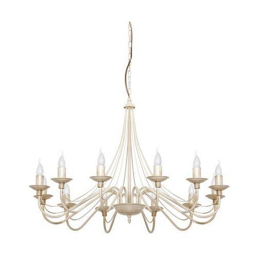 Lampa wisząca świeczki zwis Aldex Róża 12x40W E14 prowansalski kremowy 397R9