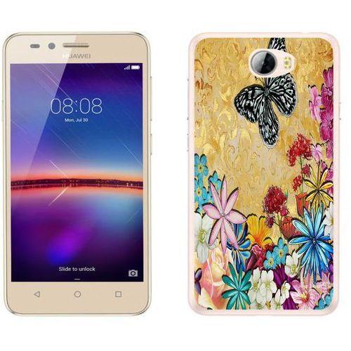 Huawei Y5 II - etui na telefon - Kolekcja boho - czarny motyl - J106