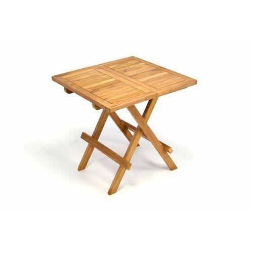 Składany stolik ogrodowy drewniany 50 cm