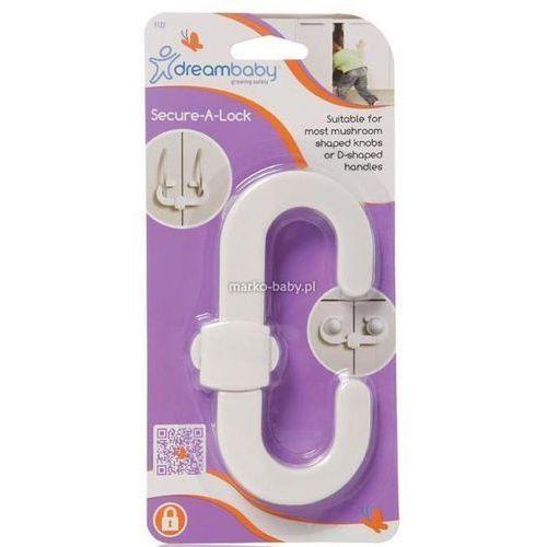 Zamknięcie zabezpieczające a do szafki,  - standard / biały marki Dreambaby