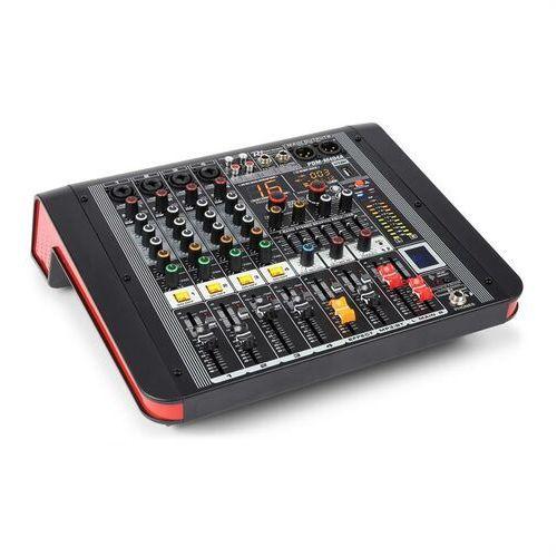 Power Dynamics PDM-M404A mikser muzyczny 4 wejścia mikrofonowe 24-bitowy procesor Multi FX odtwarzacz USB (8715693290790)