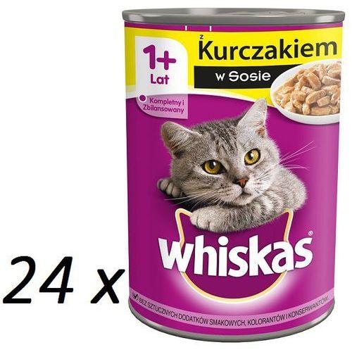 Whiskas kurczak w sosie 400 g x 18 + 6 gratis - darmowa dostawa od 95 zł!