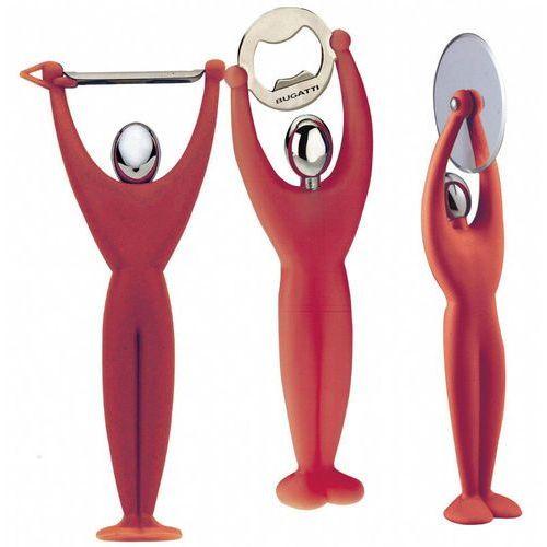 - gym zestaw 3 przyborów - czerwony - czerwony marki Casa bugatti