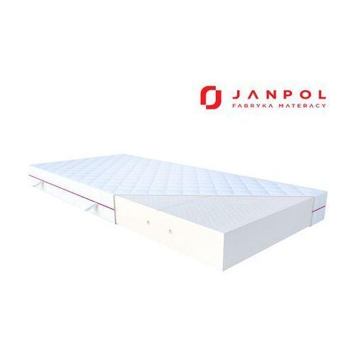 Janpol fides – materac lateksowy, piankowy, rozmiar - 90x200, pokrowiec - tencel wyprzedaż, wysyłka gratis