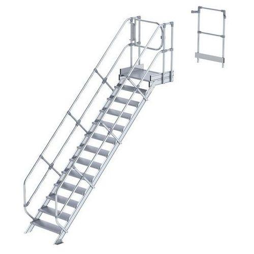 Przemysłowy pomost roboczy, moduł do schodów, 12 stopni. Najwyższa elastyczność