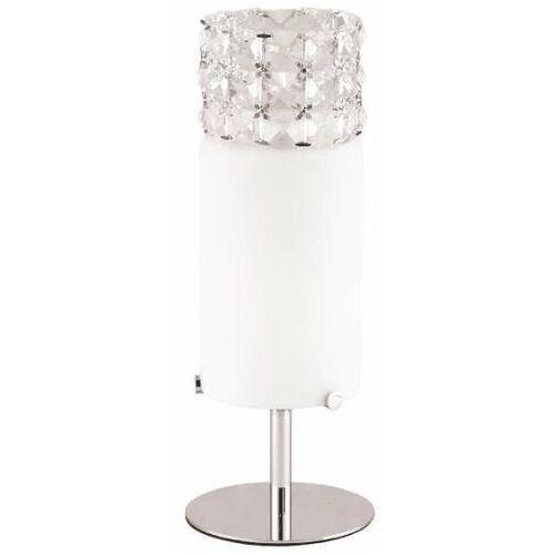 Stołowa LAMPA glamour ROYAL T0314-01A Maxlight kryształowa LAMPKA stojąca crystal biurkowa IP21 przezroczysta biała chrom, T0314-01A