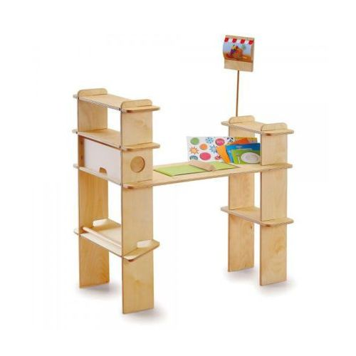 Stragan drewniany do zabaw w sklep - zabawki dla dzieci