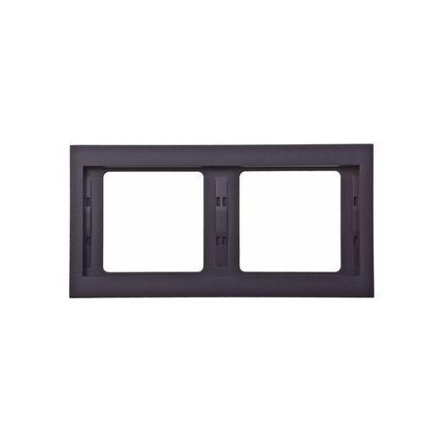 Berker k.1 ramka 2-krotna pozioma, antracyt mat, lakierowany 13637006