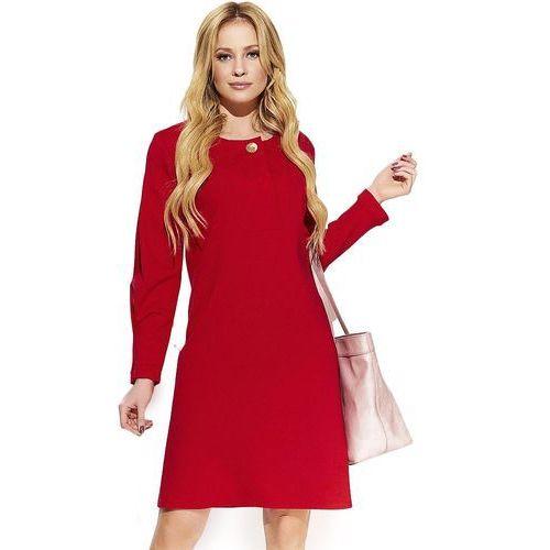 Makadamia sukienka damska 44 czerwona, kolor czerwony