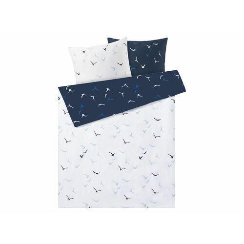 MERADISO® Pościel satynowa 160 x 200 cm, 1 komplet (Ptaki) (4056233899740)