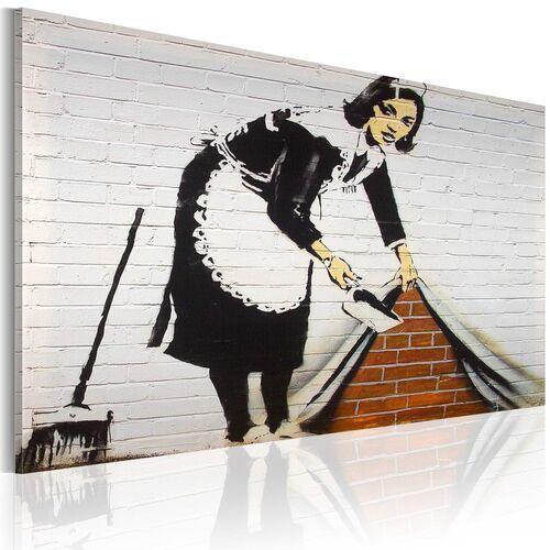 Artgeist Obraz - sprzątaczka (banksy)