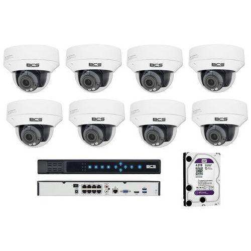 -p-232r3s zestaw bcs point 8 kamer 2 mpx 4tb hdd rejestrator poe. idealny do obserwacji biur, gabinetów i klatek schodowych. marki Bcs