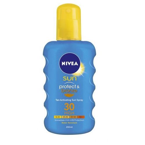 Nivea sun protect & bronze intensywny spray do opalania spf 30 (sun spray) 200 ml (7319470012134)