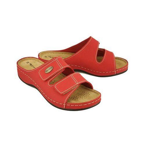 27510-20 500 red, klapki damskie - czerwony marki Tamaris