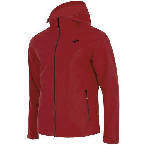 4f Męska kurtka przeciwdeszczowa h4l18 kum002 czerwony xl