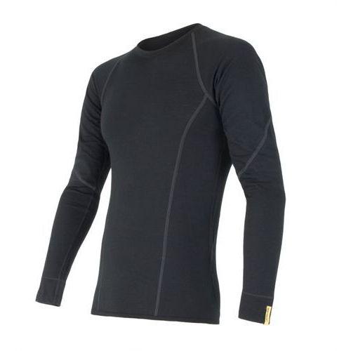 Sensor koszulka termoaktywna z długim rękawem Merino Wool Active M black M