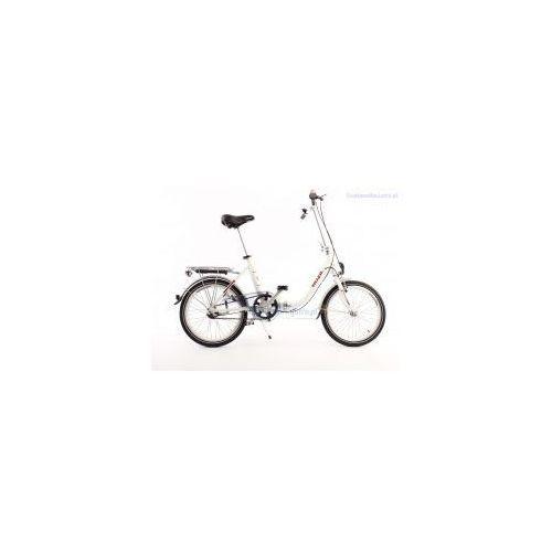 Aluminiowy rower składany SKŁADAK niska rama MIFA 3-biegi SHIMANO NEXUS biały - produkt z kategorii- Pozostałe rowery