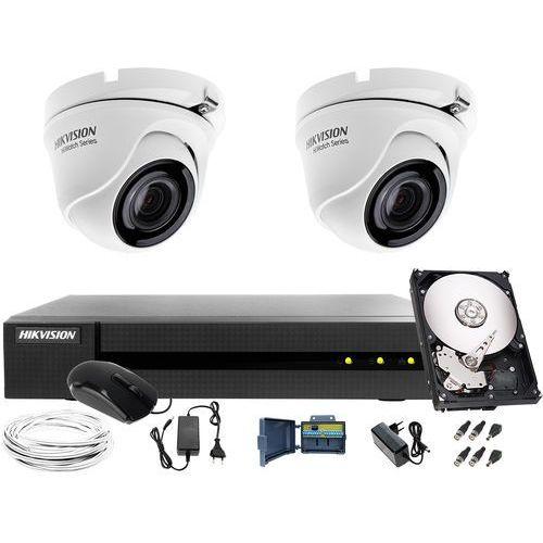 2x HWT-T123-M Zestaw do monitoringu Hikvision Hiwatch HWD-6104MH-G2, 1TB, Akcesoria