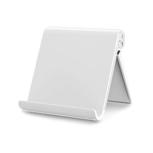 Uniwersalny stojak podstawka uchwyt pod telefon tablet biały - biały marki 4kom.pl