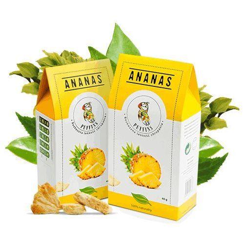 Puffins  ananas suszony bez cukru 40g microfood eko (5901685101288)