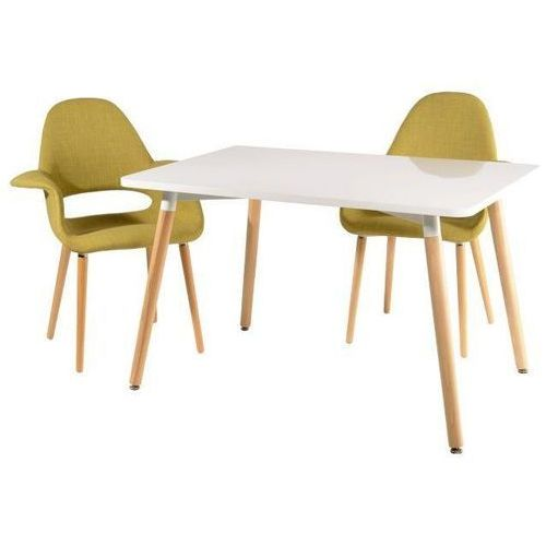 Stół copine biały/ naturalny 120x80 cm marki D2.design