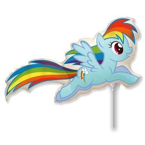 Go Balon foliowy do patyka my little pony - rainbow dash - 37 cm