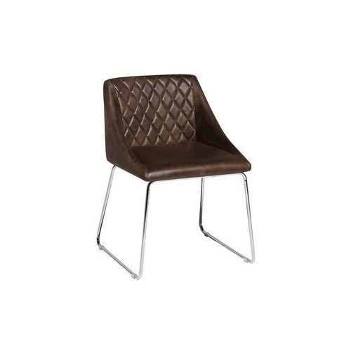 Krzesło do jadalni ciemnobrązowe ARCATA