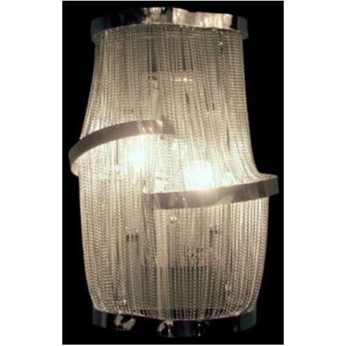Light prestige Kinkiet lampa ścienna demeter 2 lp-w0052c/2w dekoracyjna oprawa nowoczesna łańcuszki glamour chrom