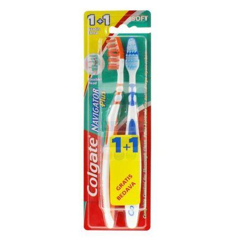 Colgate Szczoteczka Navigator Plus Miękka 1+1 gratis z kategorii Szczoteczki do zębów