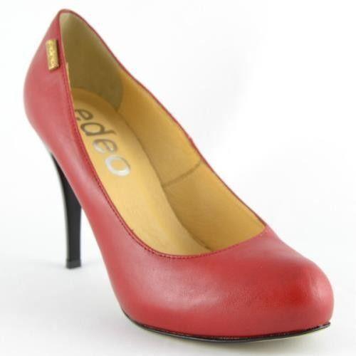 Czółenka Edeo 1193-286 - Czerwony