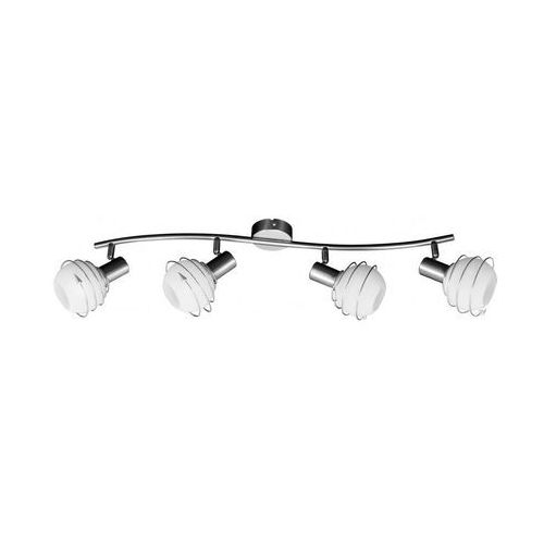 Listwa lampa oprawa sufitowa Spot Light Daria 4x40W E14 biał/satyna 2093427