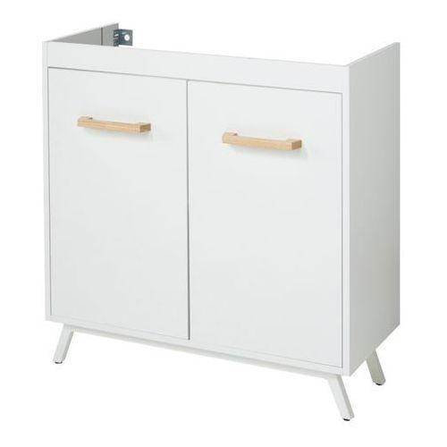 Szafka pod umywalkę GoodHome Ladoga 80 cm biała, kolor biały