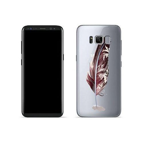 Etuo crystal design Samsung galaxy s8 - etui na telefon crystal design - bordowe pióro