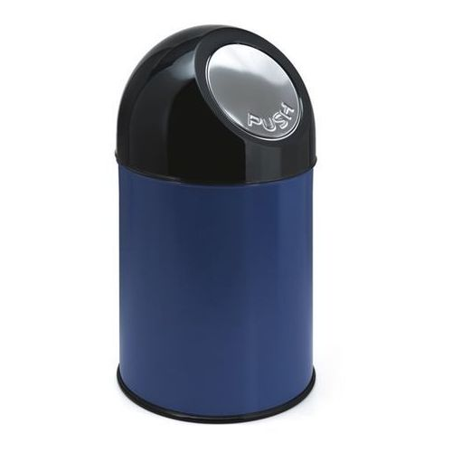 Pojemnik na odpady PUSH, blacha stalowa, poj. 30 l, pojemnik wewn ocynkowany, ni
