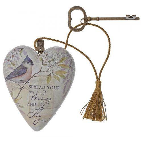 """Serce zawieszka """"Rozłóż skrzydła i leć"""" Spread Your Wings Art Heart 1003480232 figurka ozdoba serce"""