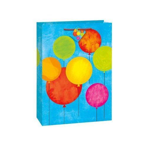 Torebka prezentowa baloniki niebieska 34x47 cm - 1 szt. marki Unique