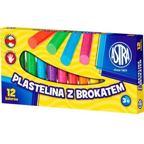 Astra Plastelina z brokatem 12kol. 303107001