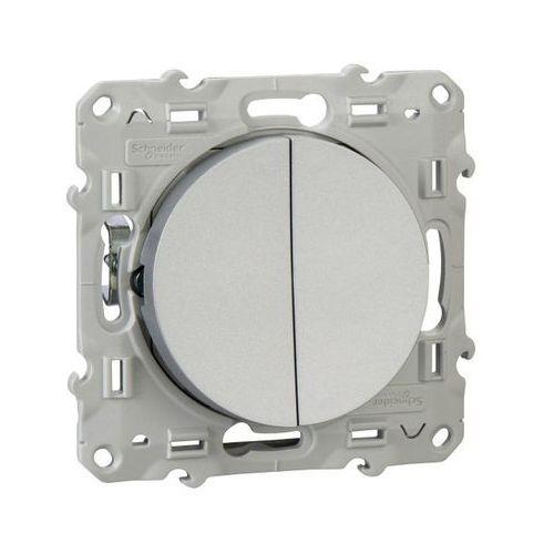 Łącznik świecznikowy Schneider Electric Odace aluminium, S53D211