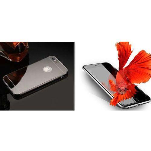 Mirror bumper / perfect glass Zestaw   mirror bumper metal case szary   obudowa + szkło ochronne perfect glass   dla modelu apple iphone 7