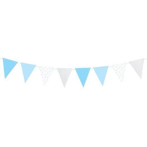 Baner flagi niebieski na roczek 1st birthday - 1,3 m