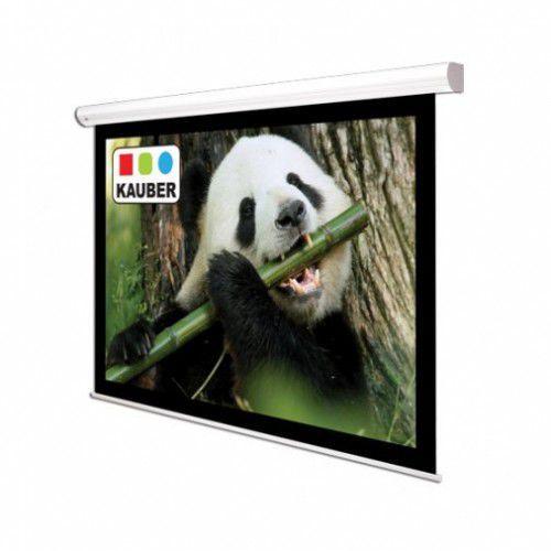 Ekran ścienny elektrycznie rozwijany Kauber White Label 180x135cm, 4:3, Matt White Plus, 1112