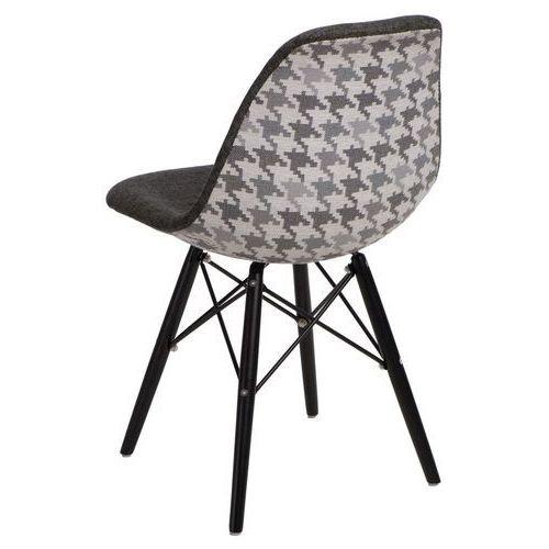 Krzesło P016W Pattern szar-pepitka/black - D2 Design - Zapytaj o rabat! (5902385725064)