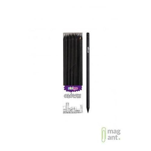 Ołówek z czarnego drewna z gumką hb op.36 szt.