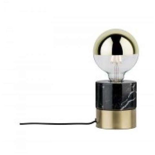 Oprawa stołowa vala 1-lampa szczotkowana mosiądz / czarny marmur, 79742 marki Paulmann
