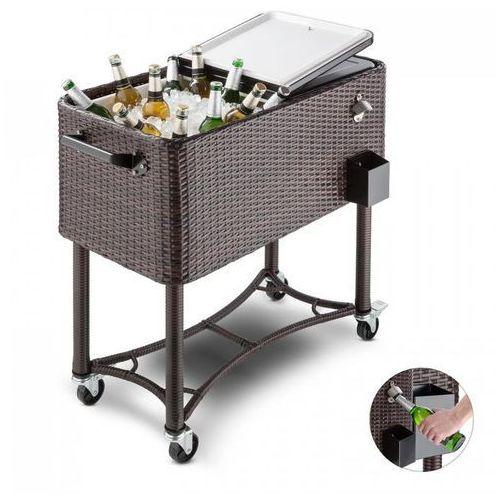 Blumfeldt Springbreak wózek chłodniczy do napojów wózek 80l technorattan (4260435918363)